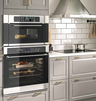 A double range oven in a bright kitchen