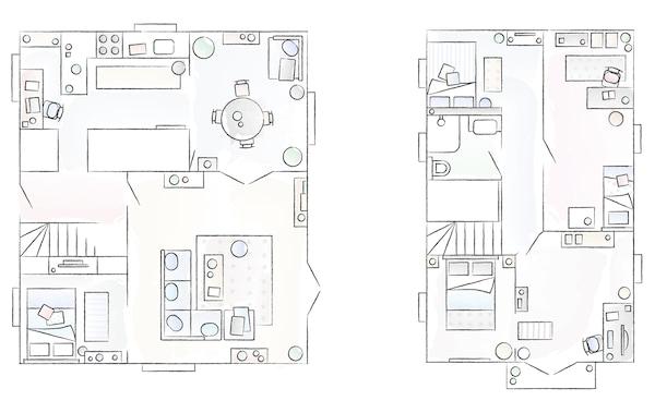 A floorplan of Anne's home.