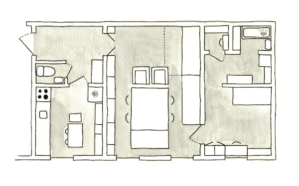 A floorplan of Carola's home.