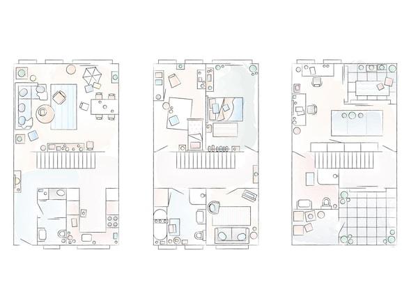 A floorplan of Eva and Marla's home.