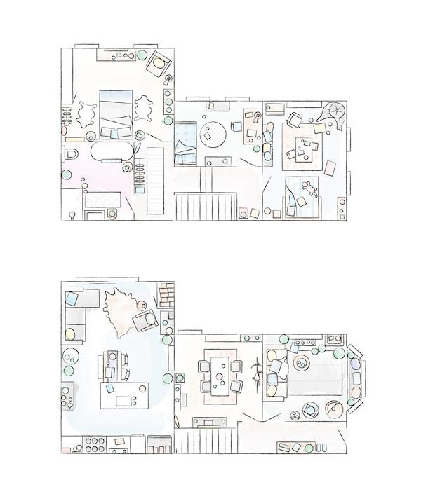A floorplan of Katty's home.