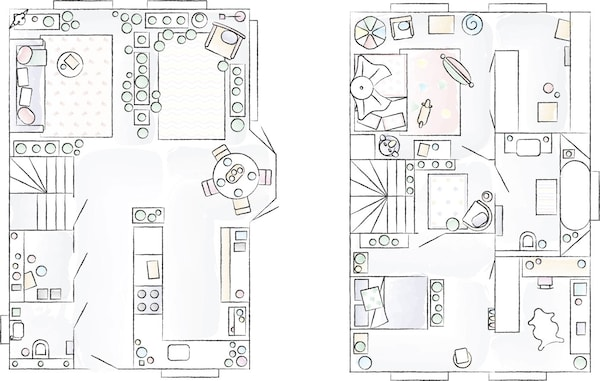 A floorplan of Miriam's home.