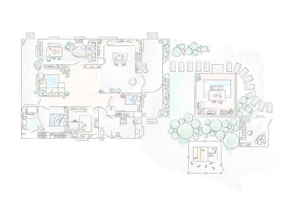 A floorplan of Nici's home.