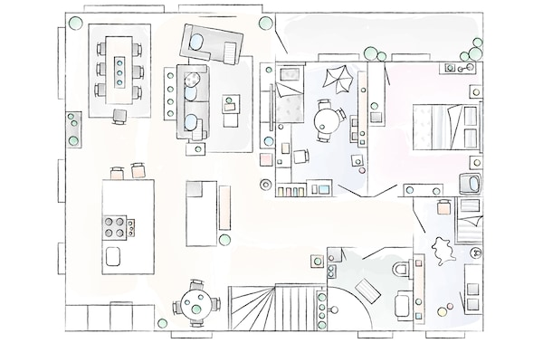 A floorplan of Sofie's home.
