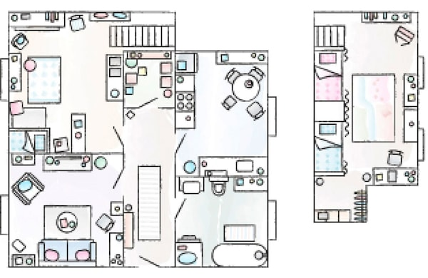A floorplan of Sylke's 72 square metre home.