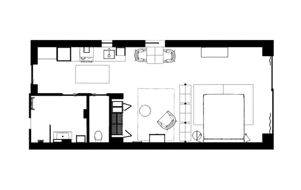A floorplan of the home.