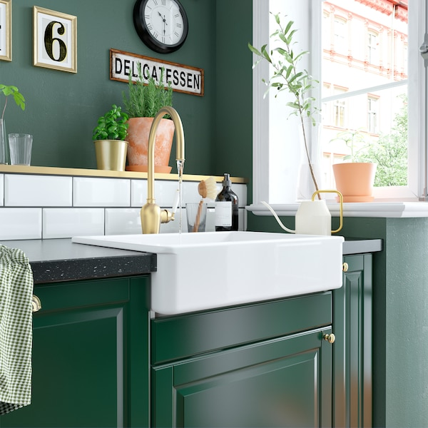 A green and fresh bodbyn kitchen ikea for Ikea cucina bianca