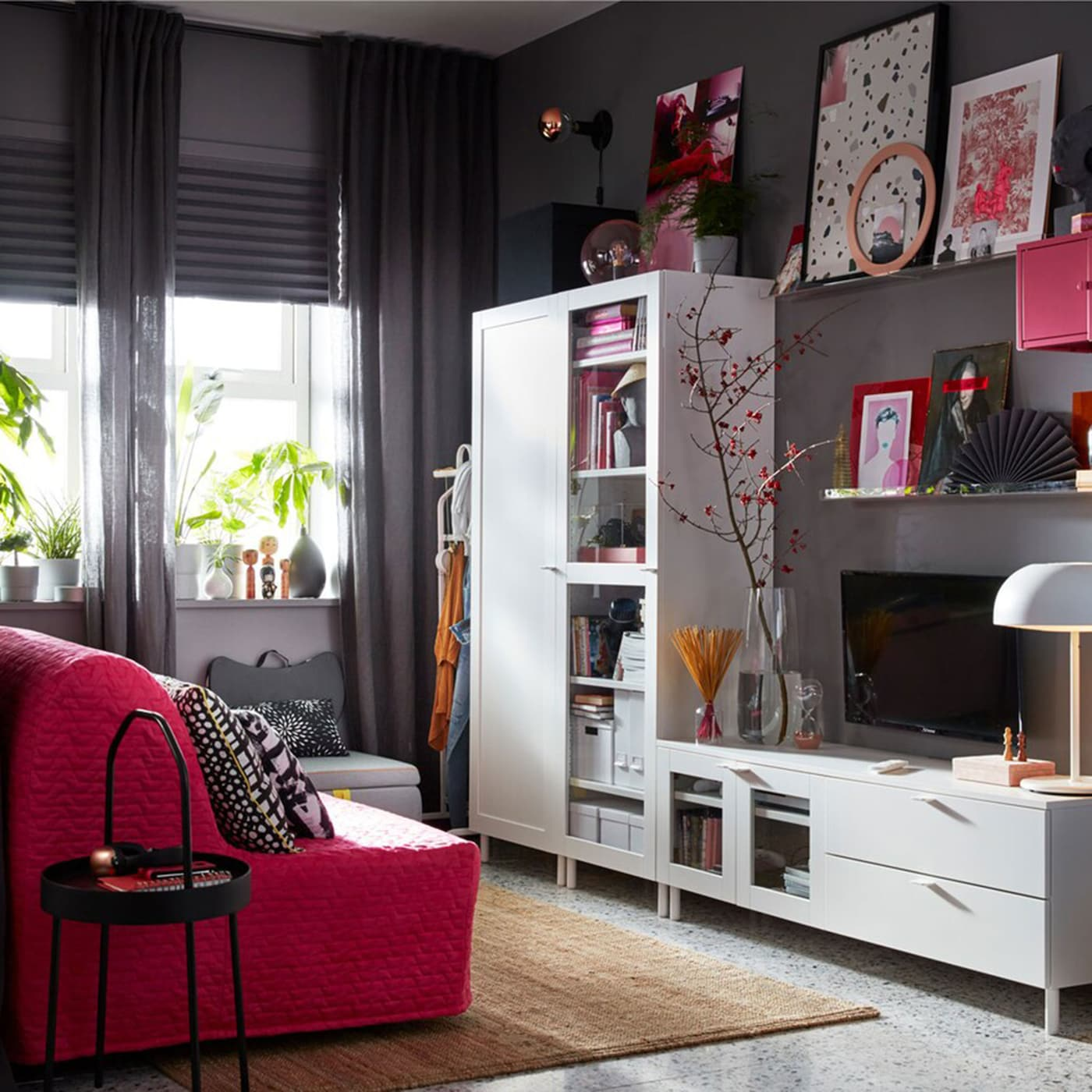 Living Space With Outstanding Storage 24 7 Ikea