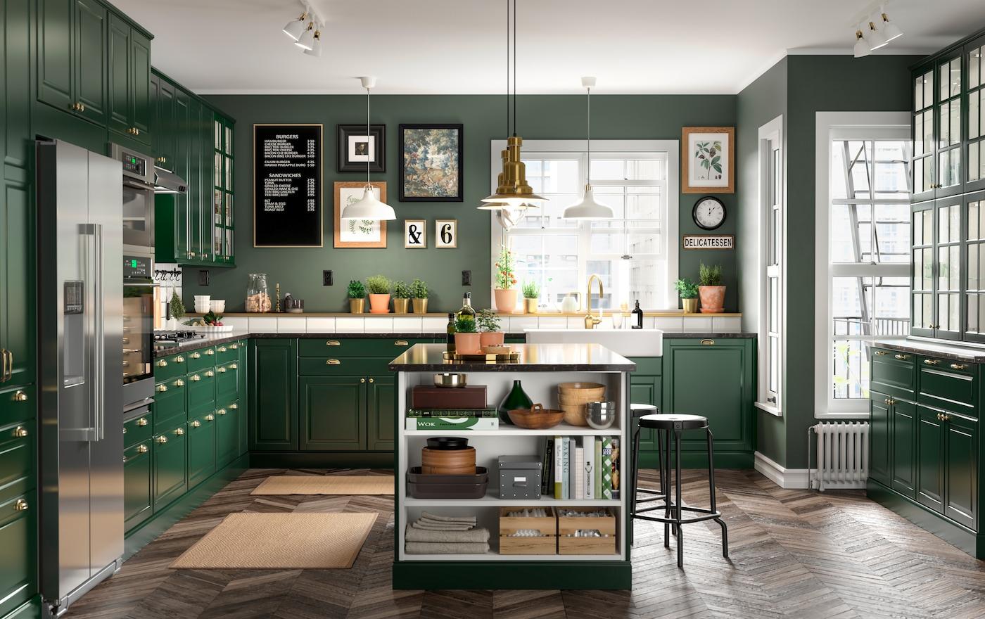 A Green And Fresh Bodbyn Kitchen Ikea