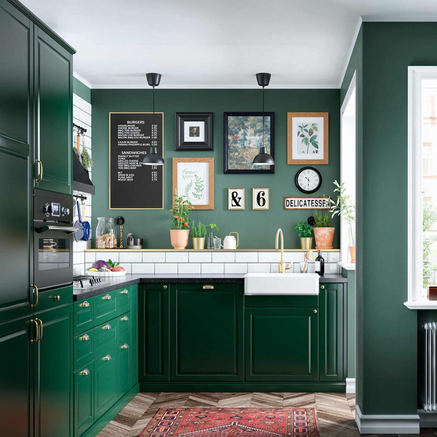 Furniture Kitchen Cabinets: A Green And Fresh BODBYN Kitchen