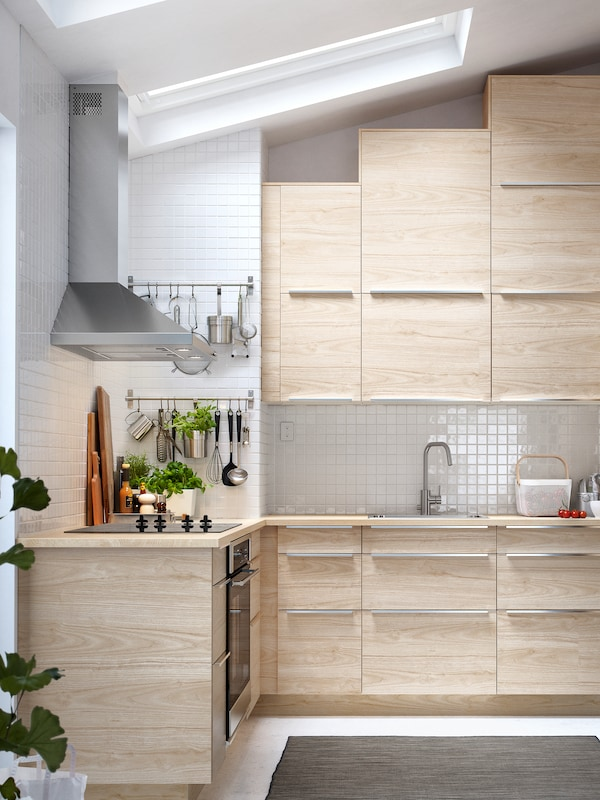 A Light Ash Effect Askersund Kitchen Ikea Ca