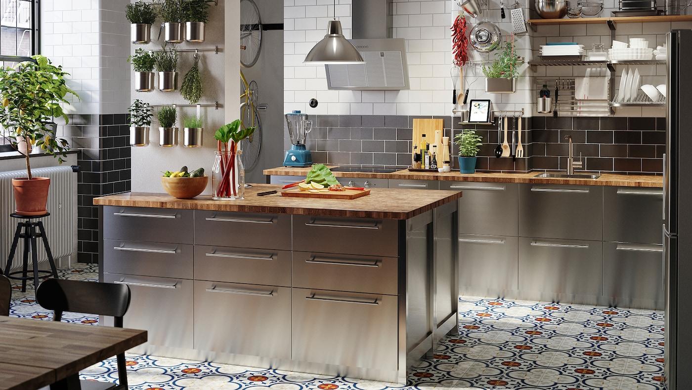 Varsta Kitchen Industrial And Restaurant Inspired Ikea