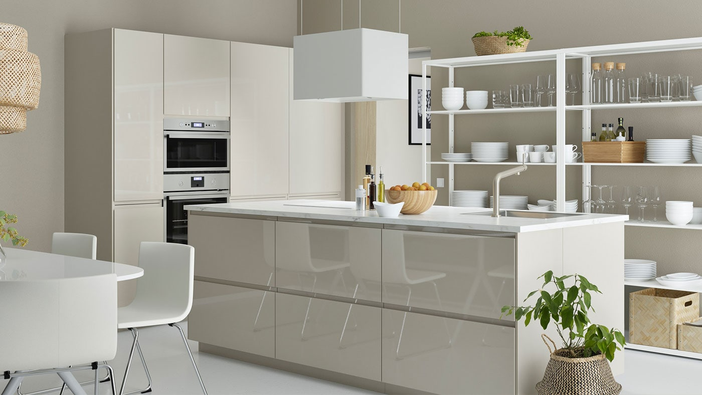 Voxtorp High Gloss Light Beige Kitchen Ikea Ireland