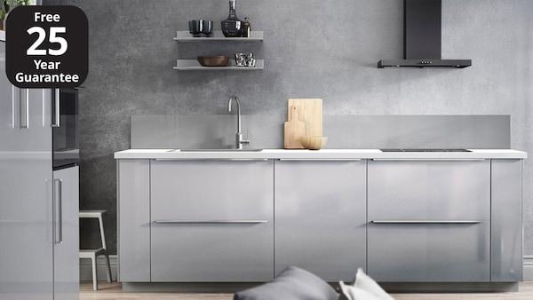 Ringhult High Gloss Light Grey Kitchen Ikea