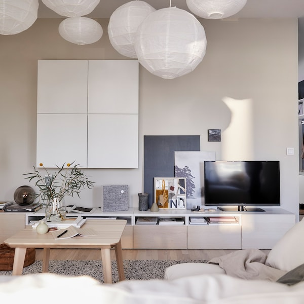 A Calm Living Room In A Relaxing Home