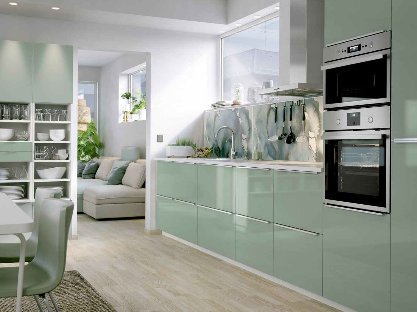 Keep your kitchen clean in calming green - IKEA