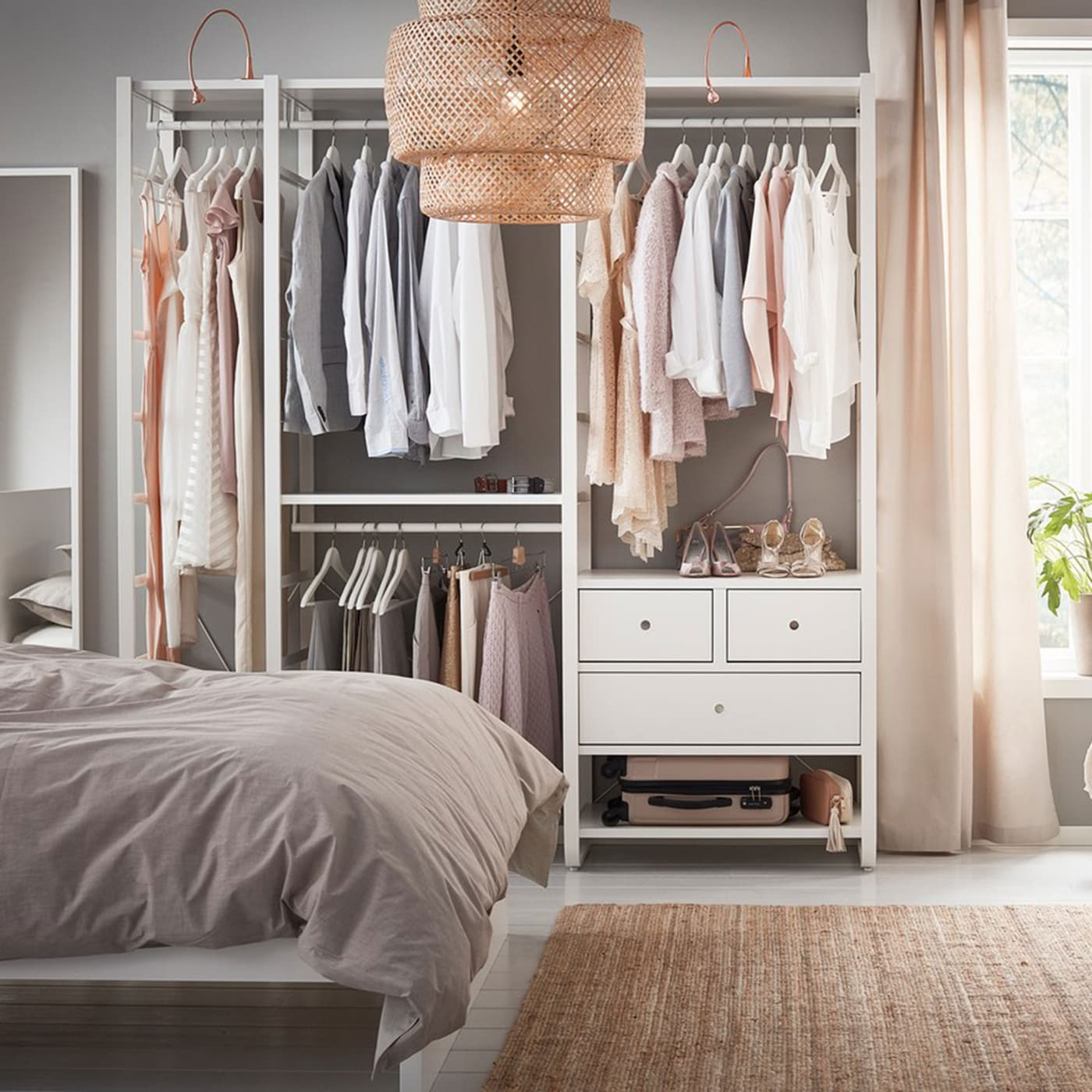 Ikea 2010 Bedroom Design Examples: Your Open Wardrobe, Made Easy And Elegant