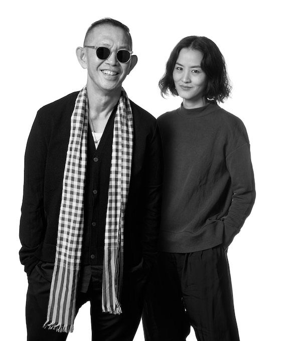 A portrait of Bhanu Inkawat and Vitchukorn Chokedeetaweeanan, designers for Thai fashion brand Greyhound Original.