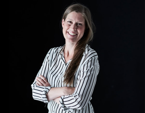 A portrait of interior designer Elin Stierna.