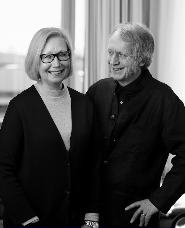 A portrait of Marianne Hagberg and Knut Hagberg.