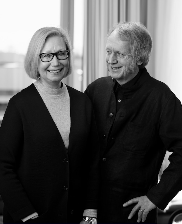 A portrait of Marianne Hagberg and Knut Hagberg.