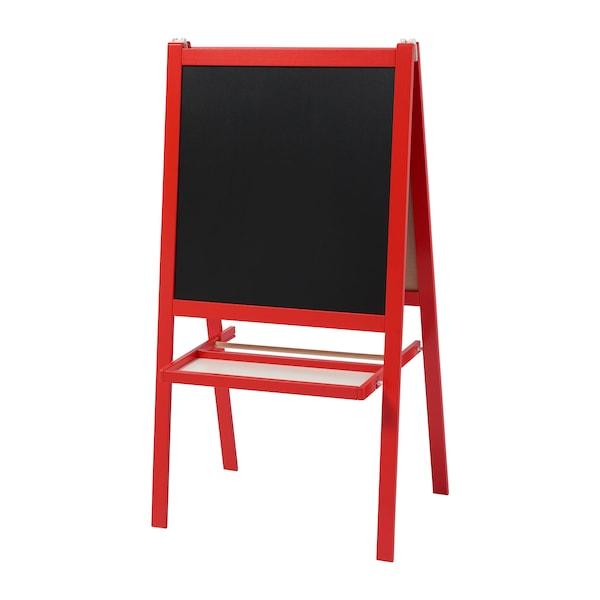 A red MALA easel.