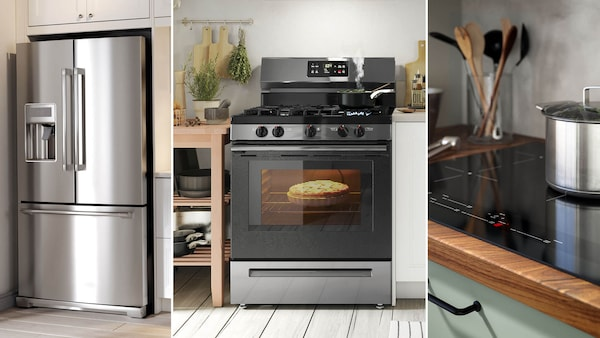 A selection of appliances in a kitchen.