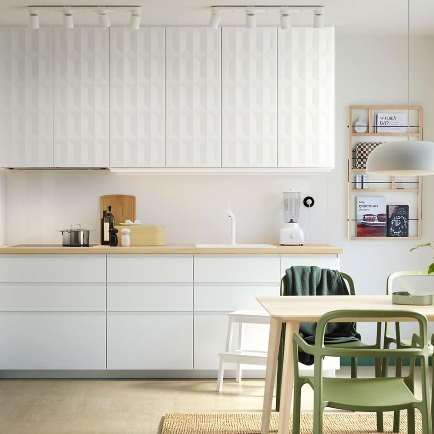 Sleek Kitchen Scandinavian Style Ikea