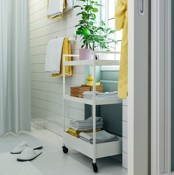 A small bathroom that is big on style