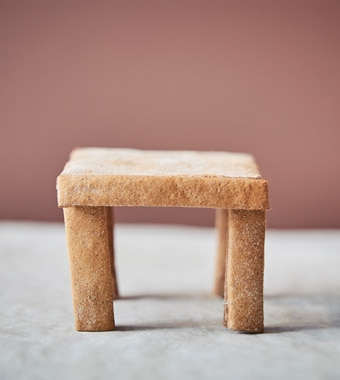 A small IKEA LACK table made from gingerbread