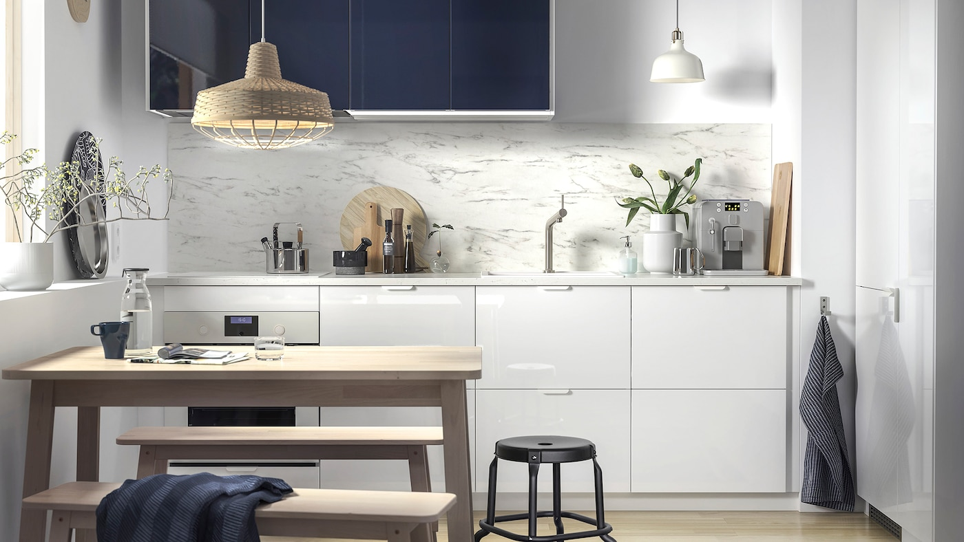 A modern and minimalist kitchenette   IKEA