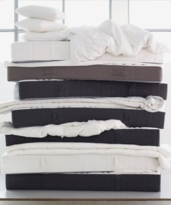 A stack of mattresses