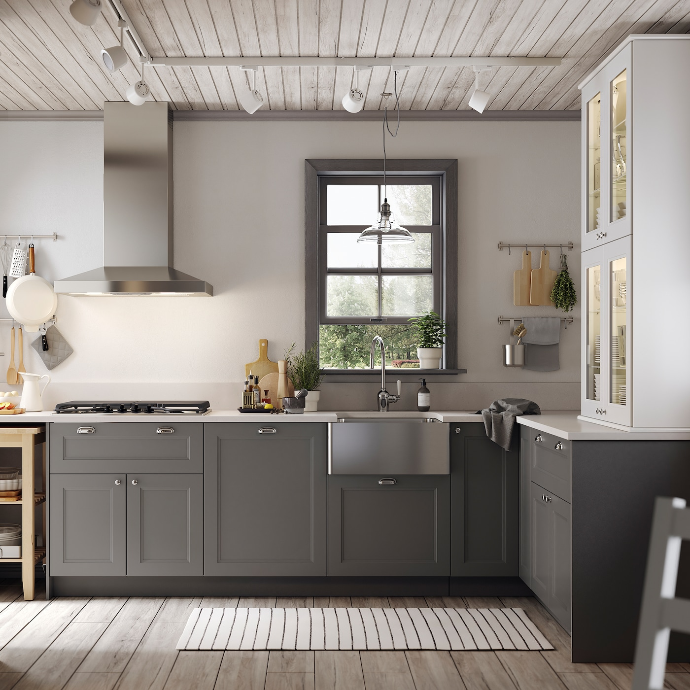 ikea grey kitchen cabinets