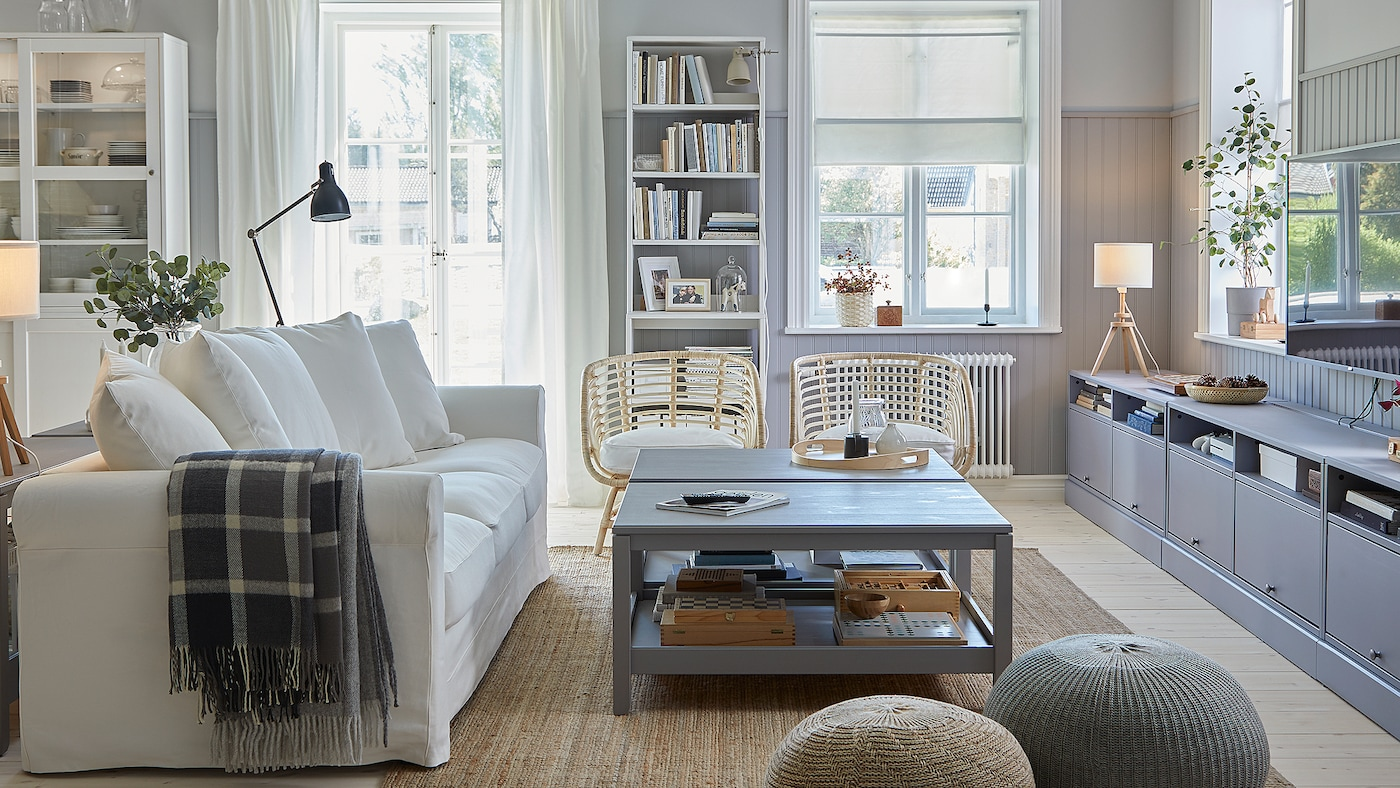 A bright, traditional and coordinated living room - IKEA