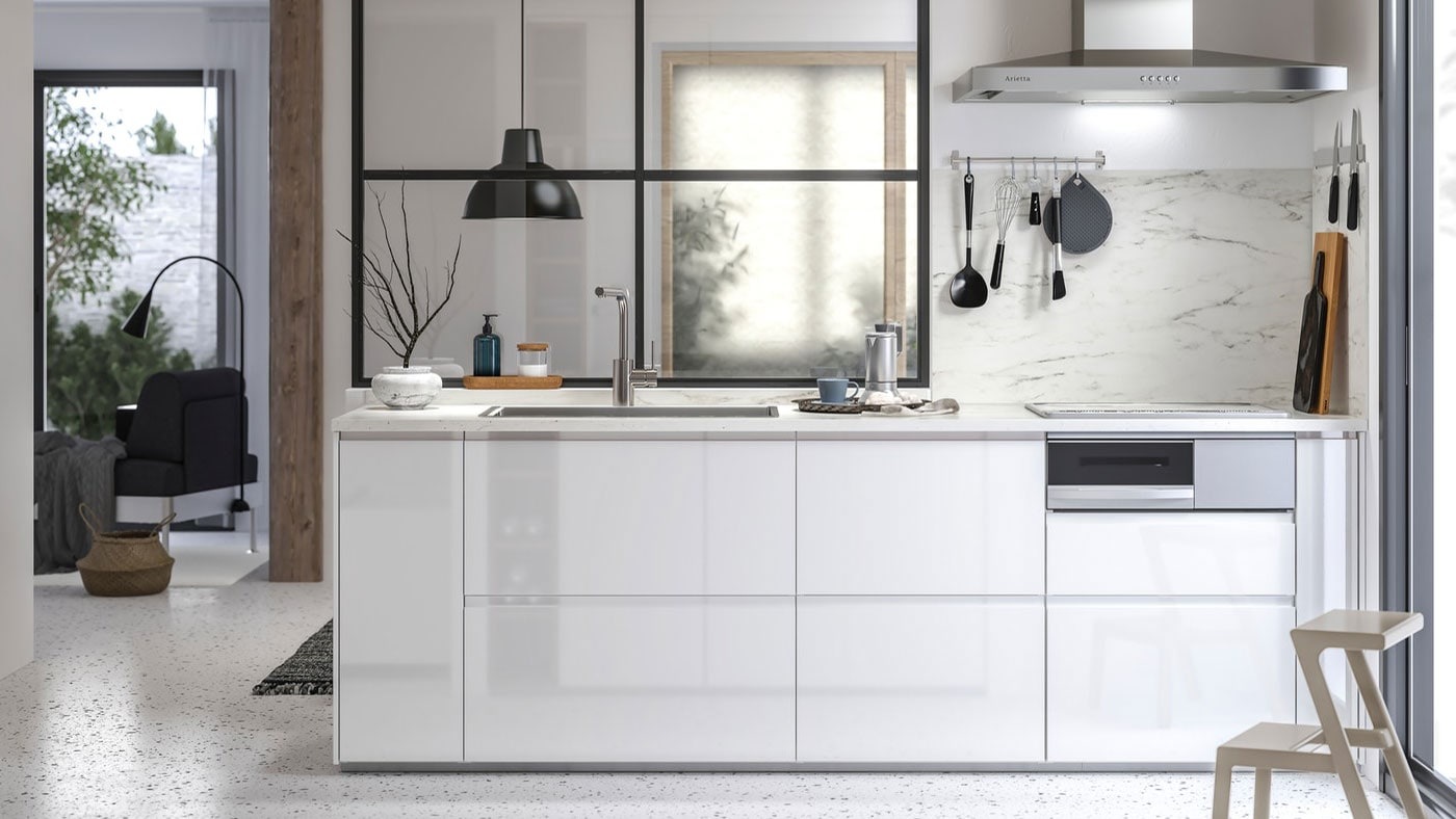 Voxtorp High Gloss White Kitchen Ikea Ireland