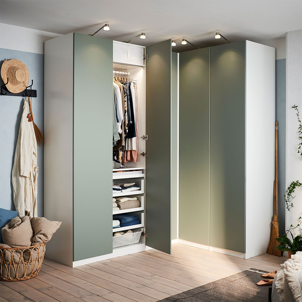 Charmant PAX Dressing Finition Vert Gris IKEA