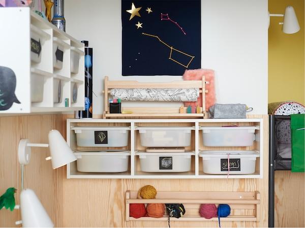 Wonderlijk Slimme opbergers voor kinderen in de slaapkamer - IKEA HF-07