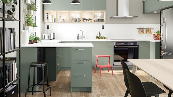 BODARP Grey-green kitchen Priced from $119/lin. ft.