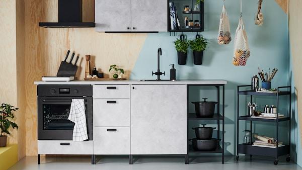 أداة تخطيط تتيح لك تصميم وتخطيط مطبخ ENHET الخاص بك.