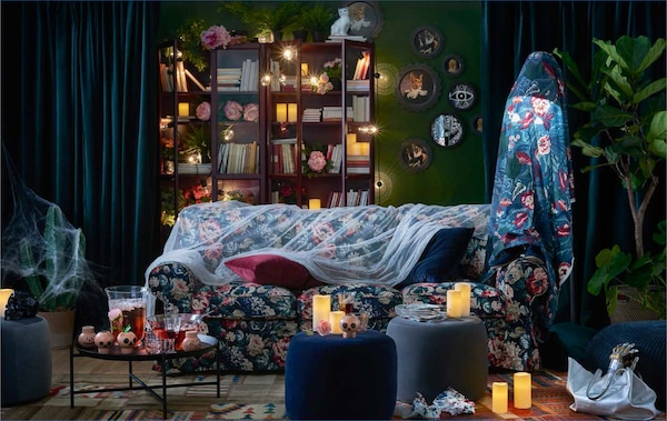 Add a touch of drama and mystery to your living room