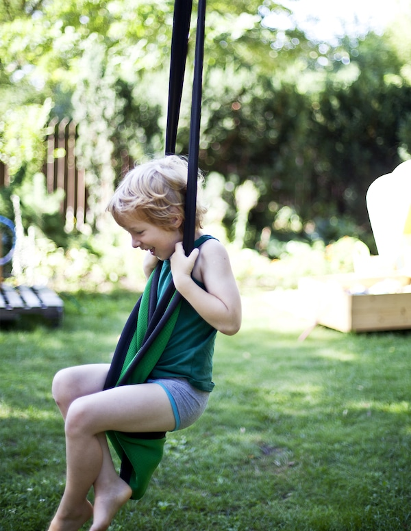 Add extra fun to your garden with a swing
