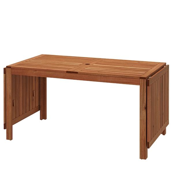 ÄPPLARÖ Rozkládací stůl, venkovní, hnědé mořidlo, 140/200/260x78 cm.