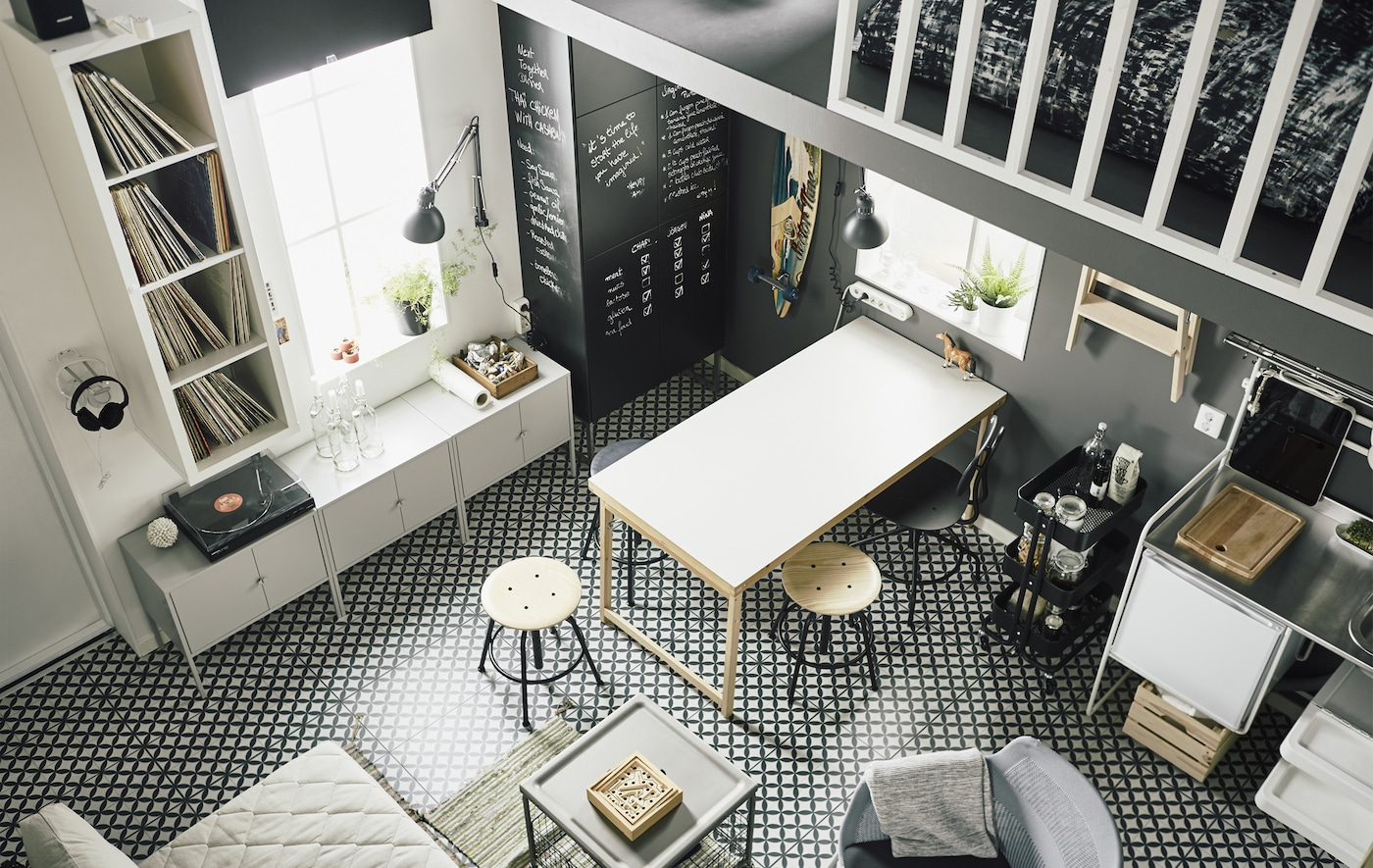 A small and smart loft apartment - IKEA