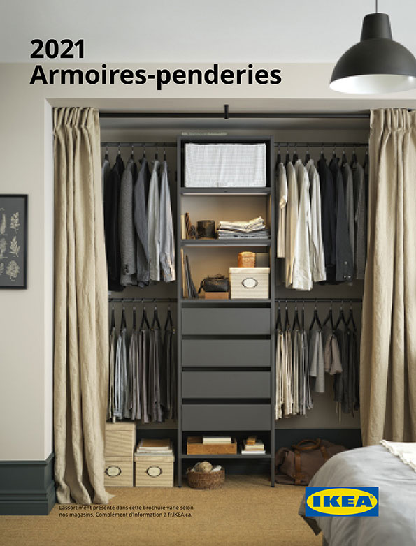 Afficher la brochure Armoires-penderies 2021.