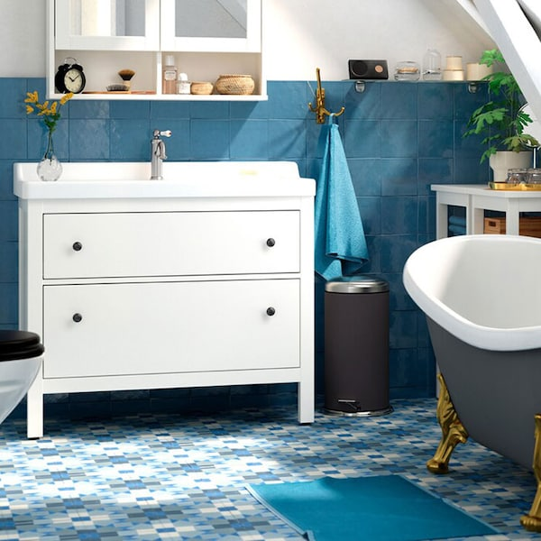 Affordable luxury in a spa-style bathroom