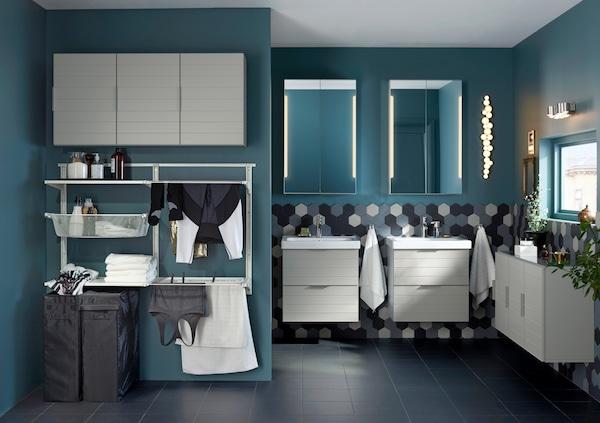 Algot-säilytysjärjestelmä kylpyhuoneessa