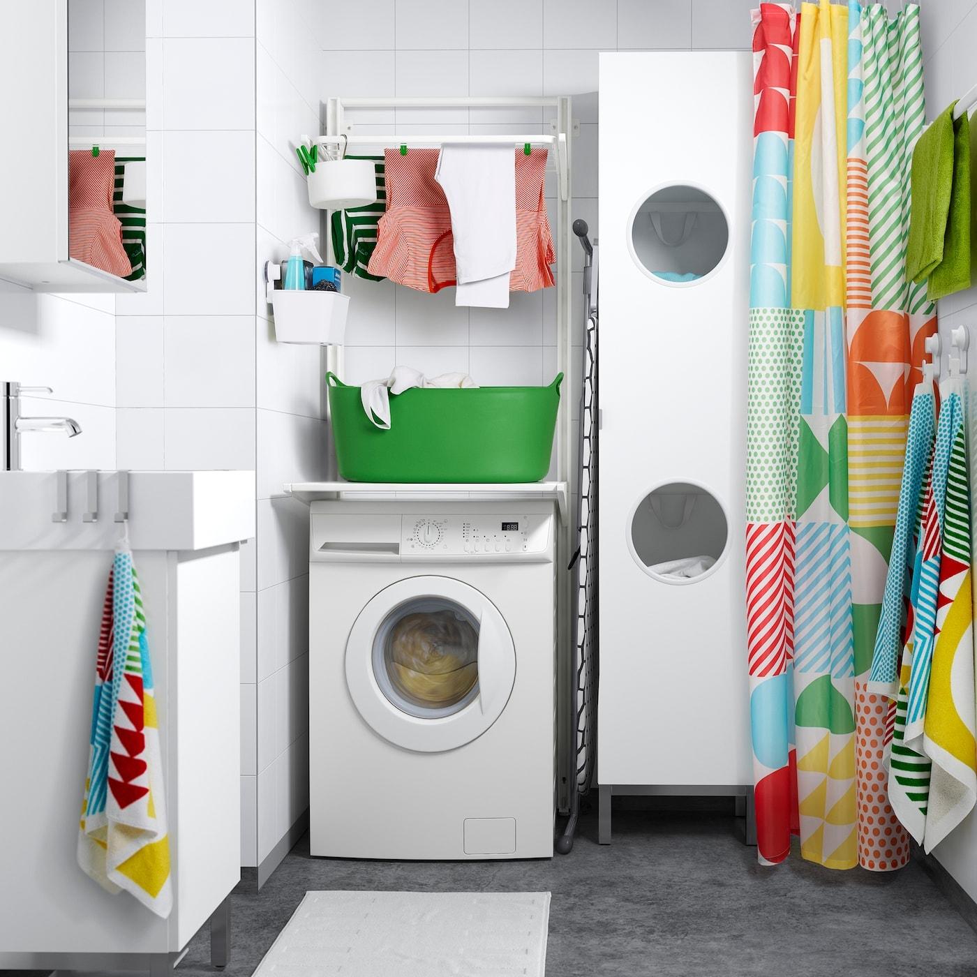 ALGOT systeem IKEA wasruimte wasgoed wit kleur