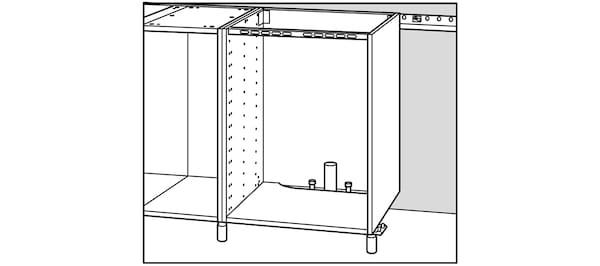Alignement plomberie cuisine IKEA