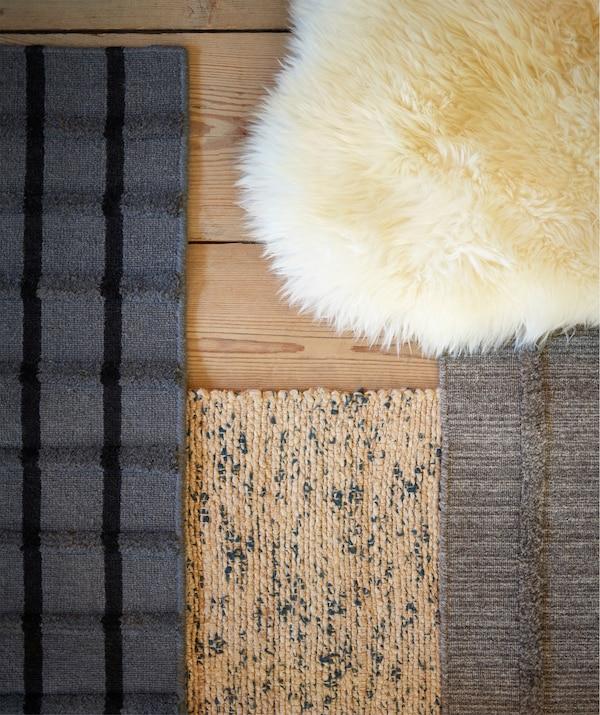 النقوش المختلفة تعطي شخصية مميزة للغلفة، مثل جلد الخروف LUDDE من ايكيا. الصوف مقاوم للأتربة وقوي الاحتمال.