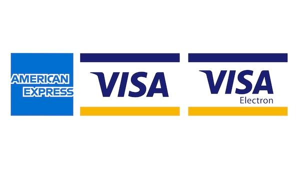 American express és  Verified by VISA logók.